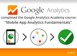 Certificaat mobile app analytics fundamentals