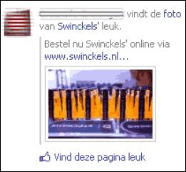 advertentie facebook met naam vriend