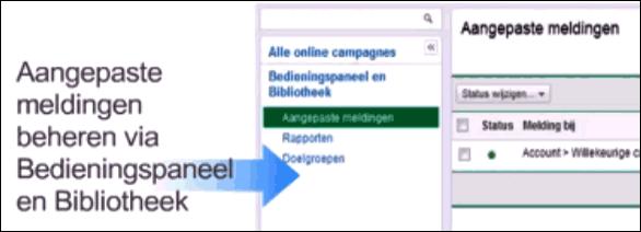 Google Adwords aangepaste meldingen beheren