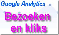 Google analytics bezoeken en kliks