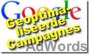 Google AdWords geoptimaliseerde campagnes