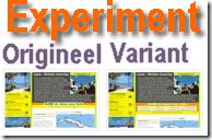 Content experiment Google Analytics