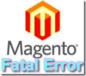Fatal Error Magento