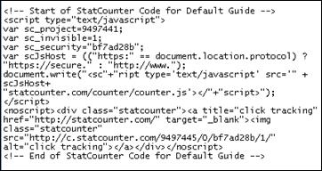voorbeeld code tag
