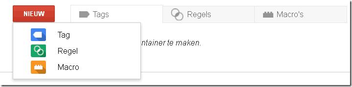 Google Tag Manager nieuwe tag-macro-regel aanmaken