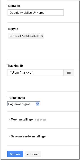 google tagmanager Universal Analytics tag aanmaken-1