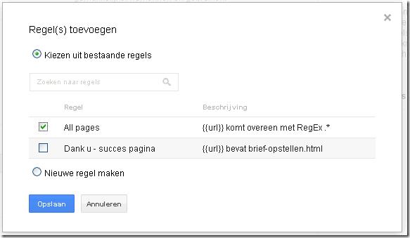 Google tag Manager regels toevoegen-alle pagina´s