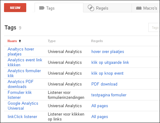 01A-Google Tag manager events registreren