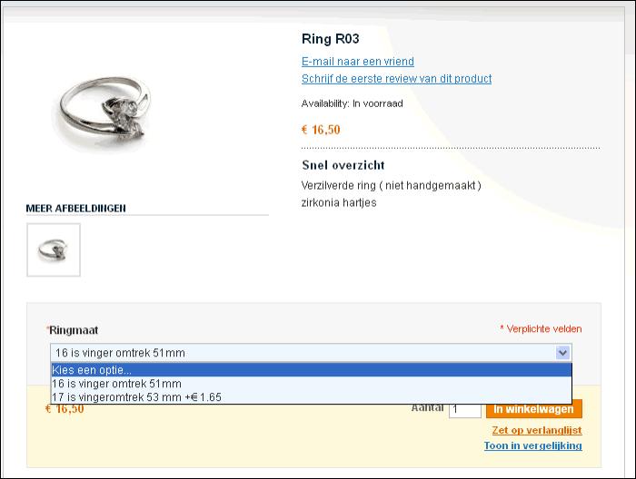 Magento configureerbaar product zichtbaar in webshop