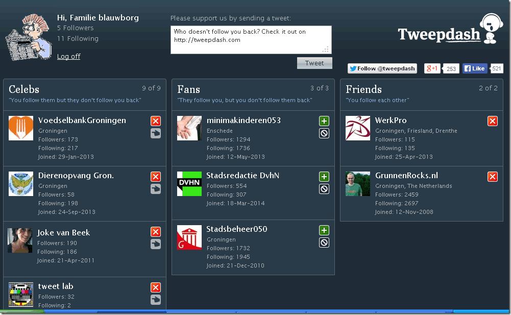 tweepdash-twitter app-wie volgt je