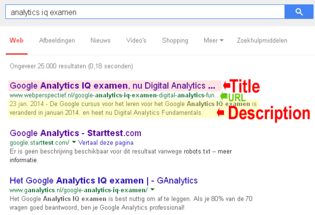 maak google zoekmachine