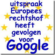 uitspraak europees rechtshof google zoekmahine